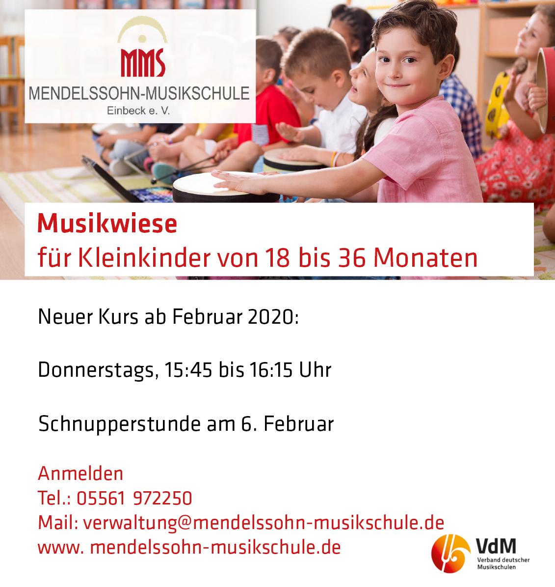 Musikwiese ab 6. Februar 2020