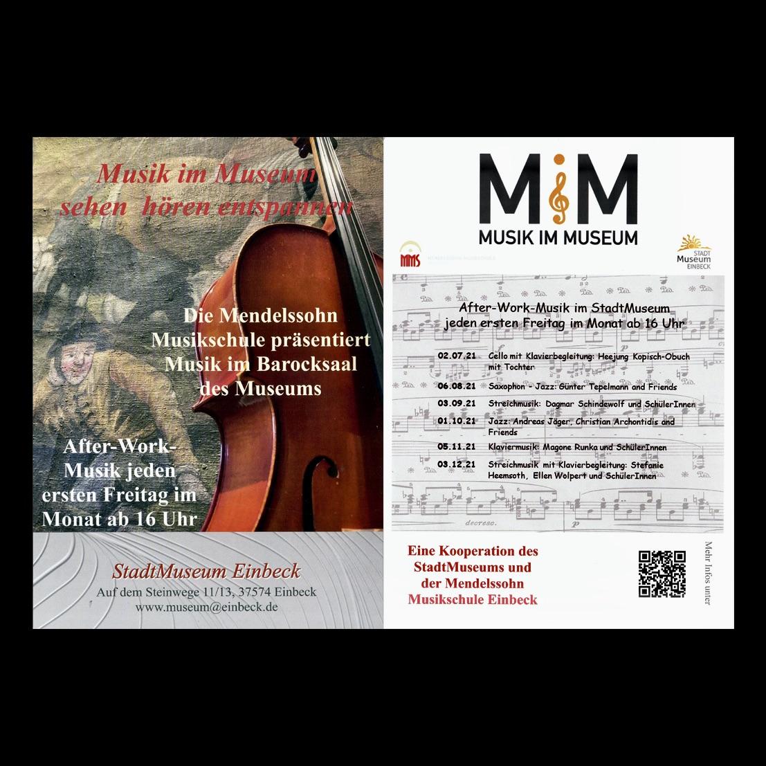 Musik im Museum - ab dem 2. Juli an jedem ersten Freitag im Monat