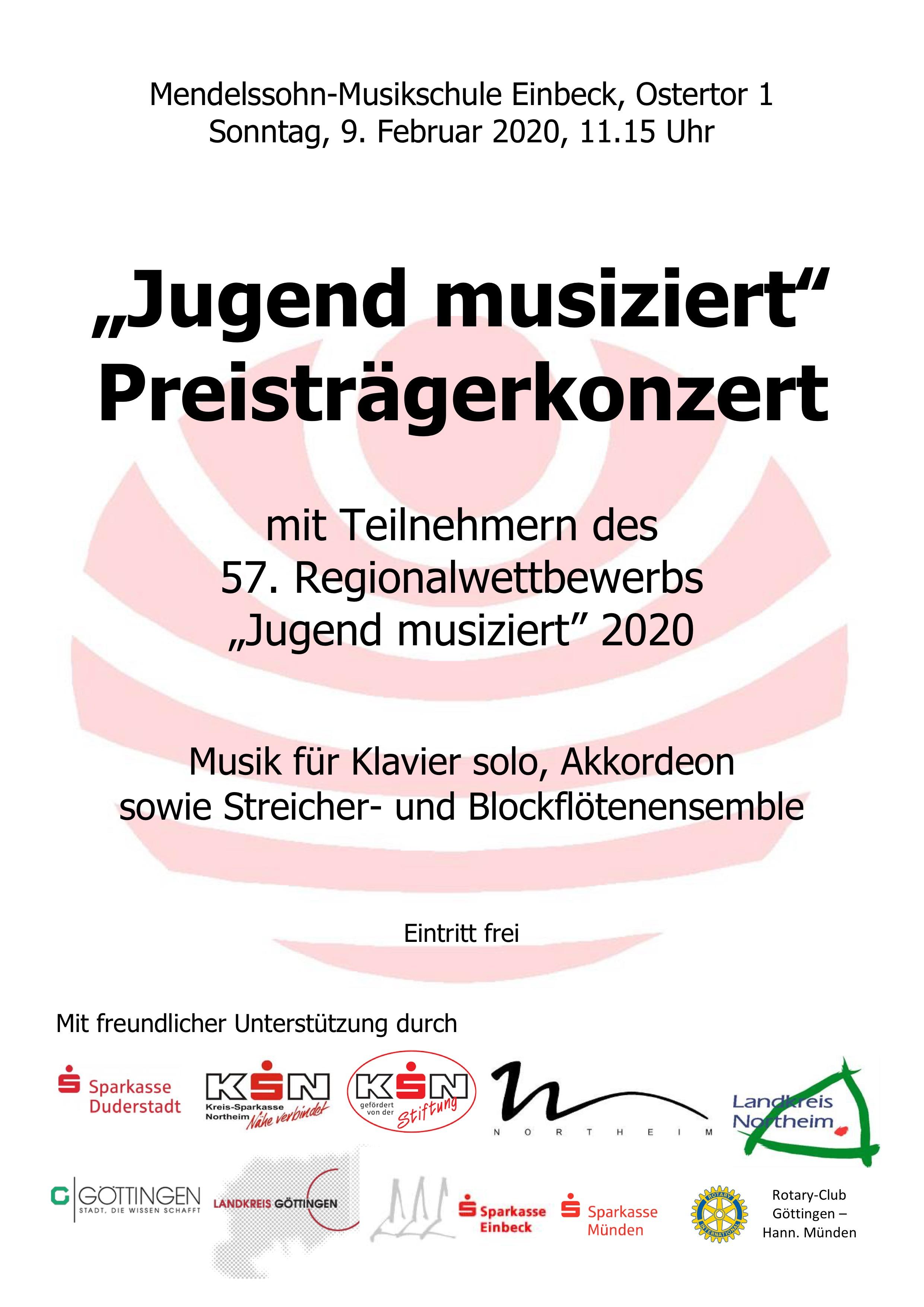 """""""Jugend musiziert"""" Preisträgerkonzert 2020"""