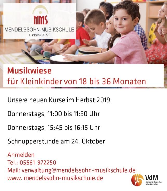 Neue Kurse Musikwiese nach den Herbstferien