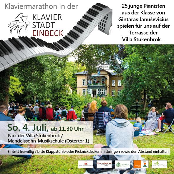 Klaviermarathon am Sonntag, 4. Juli 2021, ab 11:30 Uhr